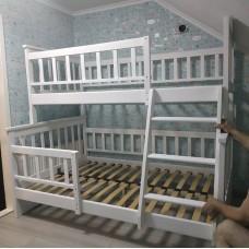 Двухъярусная кровать Жасмин Белая 140/(190)200