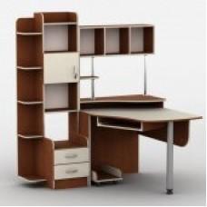 Стол компьютерный Тиса-03 - Стол компьютерный Тиса-03 (кромка меламин+ПВХ)