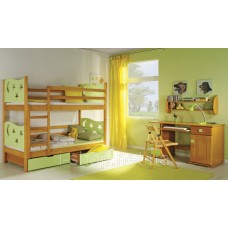 Двухъярусная кровать Jarek + матрасы  + ящии