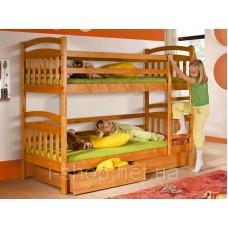 Двухъярусная кровать Иринка + ящики + матрасы