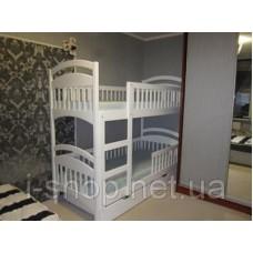Двухъярусная кровать Карина Люкс усиленная (RAL белый) + матрасы