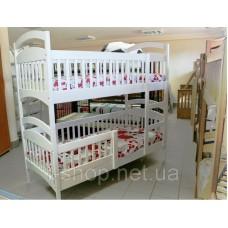 Двухъярусная кровать Карина  люкс белая + матрасы ЭКО-43