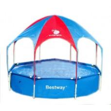 Бассейн каркасный с тентом Bestway