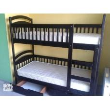 Двухъярусная кровать Карина НС + матрасы (Венге)