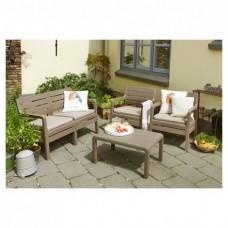 Набор садовой мебели Delano lounge set каппучино