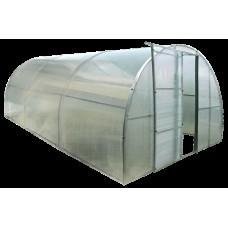 Каркасная теплица Click Green House под поликарбонат, окна, двери в комплекте 3*6 м
