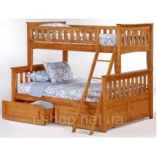 Двухъярусная кровать Жасмин 120 + Матрасы (ольха)