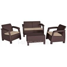 Комплект садовой мебели Bahamas, коричневый