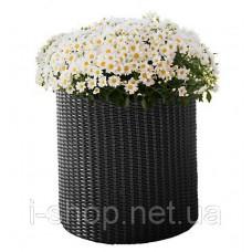 Горшок для цветов 7 л. Cylinder Planter Small, серый