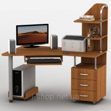 Стол компьютерный Тиса-07 (кромка ПВХ, меламин) ПВХ