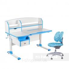 Комплект парта для подростка Sognare Blue + детское ортопедическое кресло SST9 Blue FunDesk